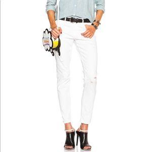 NEW • Frame • Le Garçon Boyfriend Jeans White 27